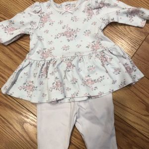 Little me pink baby girl outfit